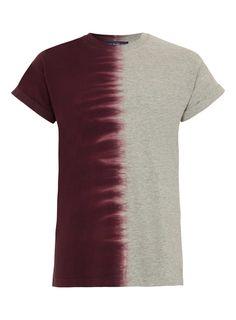 Burgundy and Grey Tie Dye T-shirt - Men's T-shirts & Tanks - Clothing - TOPMAN USA