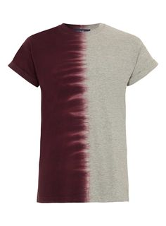 Burgundy and Grey Tie Dye T-shirt - Men's T-shirts & Tanks - Clothing - TOPMAN USA