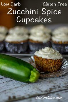 low carb gluten free zucchini cupcakes recipe