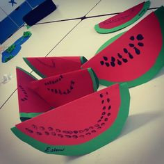 free watermelon craft idea  |   Crafts and Worksheets for Preschool,Toddler and Kindergarten