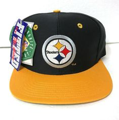 f3163325ee3436 NEW vtg PITTSBURGH STEELERS HAT the game flat bill 90s rare FITTED SIZE  6-7/8 #TheGame #BaseballCap #PittsburghSteelers