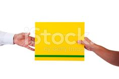 Hand passing letter. royalty-free stock photo