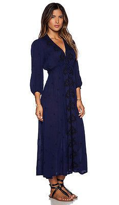 Free People Fable Dress Navy