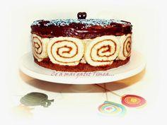 Tort rulada de caise cu ciocolata Birthday Candles, Rolls, Pudding, Desserts, Food, Tailgate Desserts, Deserts, Buns, Custard Pudding