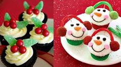Pop Culture And Fashion Magic: Christmas desserts – Cupcakes Winter Desserts, Christmas Desserts Easy, Christmas Food Gifts, Christmas Goodies, Christmas Baking, Holiday Treats, Holiday Recipes, Christmas Recipes, Christmas Fun