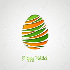 Frohe Ostern dekoriert Kartenpapier Ei. Vector design Standard-Bild - 37761712 Ostern Cartoon, Clipart, Illustration, Inspiration, School, Ideas, Design, Paper, Happy Easter