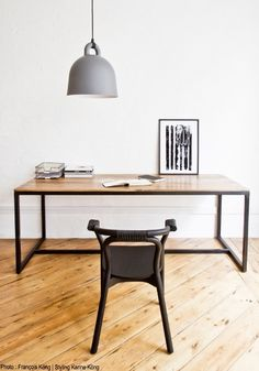 Form table — Bodie and Fou - Award-winning inspiring concept store Workspace Design, Home Office Design, Office Table, Office Decor, Modern Desk, House Doctor, Minimalist Living, Office Interiors, Design Interiors