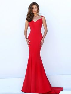 Trumpet/Mermaid Sweetheart Sleeveless Jersey Sweep/Brush Train Dresses - Mermaid Prom Dresses - Prom Dresses