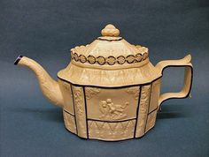 A Sowter & Co. White Feldspathic Stoneware Teapot and Cover, c.1800-10 | eBayThe cover has been broken and restored on the back edge. The cover has several nibbles to the edge. There are two chips to the handle, 55.00