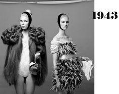 Screen shot at PM Fashion Silhouette, Spanish Fashion, Textile Texture, Fashion History, Textile Design, Couture Fashion, Knitwear, Fur Coat, Textiles