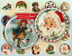 Happy Christmas  circles image  digital collage by bydigitalpaper, $4.35