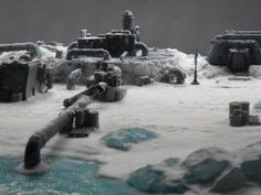Antartic, Cities Of Death, Gameboard, Ice, Inq28, Pumping Station, Scratch Build, Snow, Terrain, Winter