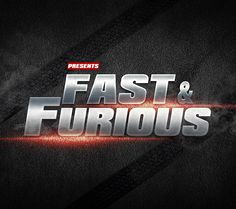 Free designs - Fast & Furious text effect