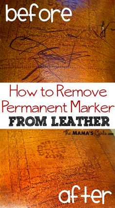 How to get sharpie off of leather surfaces.  I might need this!