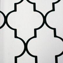 Mood Living Alahambra Black and White Wallpaper