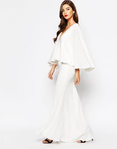 Jarlo   Jarlo Makena Plunge Front Maxi Dress With Exaggerated Frill at ASOS