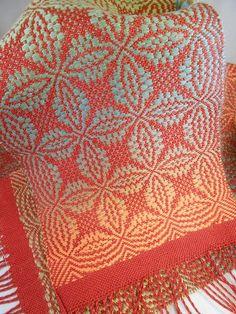 Orange Peel Overshot Woven Scarf Weaving Draft by DebbiRYarn