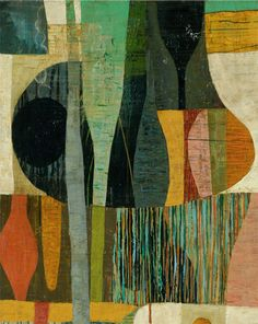 Malerei in Erdfarben . Painting in earth tones - Claire B. Cotts Art