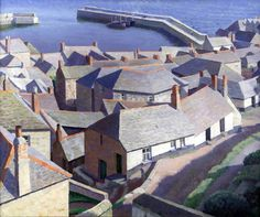 Dod Proctor (English, 1892-1972), Early Morning, Newlyn, 1926. Oil on canvas, 49.7 x 60.2 cm. The Glynn Vivian Art Gallery, Swansea.