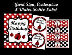 Ladybug Birthday Invitation Ladybug by CutiesTieDyeBoutique, $15.00