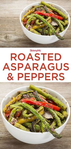 Roasted Asparagus & Peppers - easy and packed with superfood nutrition! #roastedasparagus #peppers #recipes