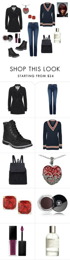 """Alternative retro"" by margaret-ann-robinson on Polyvore featuring Burberry, Wrangler, Timberland, WearAll, Lord & Taylor, Kate Spade, Chanel, Smashbox and Le Labo"