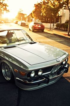 BMW E9. First car I drooled over. I had to bike past a car like this all summer once; and drool every day.