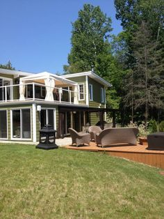 Vacation Rentals, Homes, Experiences & Places - Airbnb Lac Simon, Canada, Renting A House, Cottage, Cabin, House Styles, Winter, Home, Big Houses