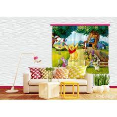 Micimackó és barátai függöny (180 x 160 cm)