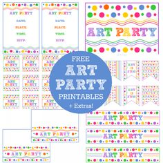 Free Art Party Printables + Extras!