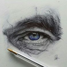 Ballpoint eye drawing