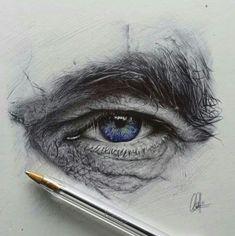 Ballpoint eye drawing