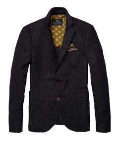 Half Lined Tweedy Wool Blazer > Mens Clothing > Blazers at Scotch & Soda