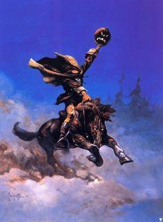 Frank Frazetta - Sleepy Hollow Headless Horseman