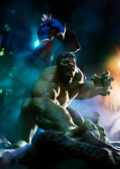 Superman and Hulk by vshen on DeviantArt