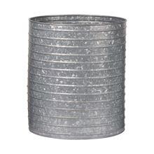 Ribbed Galvanized Metal Planter