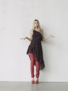 The Cherry Bomb - Red denim jeans that look like leather: Not for everyone, but if you are that girl who wants to ignite the room . . . hello.