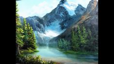 Paint with Kevin Hill - Canadian Glacier Kevin Hill, Oil Painting Techniques, Seascape Paintings, Beautiful Artwork, Waterfall, Landscapes, Outdoor, Beauty Tips, Pintura