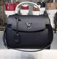 Louis Vuitton Lockme Ever Black Handbags On Sale, Luxury Handbags, Louis Vuitton Handbags, Purses And Handbags, Designer Handbags, Black Louis Vuitton, Popular Handbags, Vuitton Bag, Cute Purses