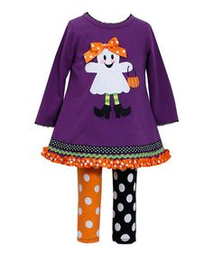 Love this Purple Ghost A-Line Dress & Leggings - Infant on #zulily! #zulilyfinds