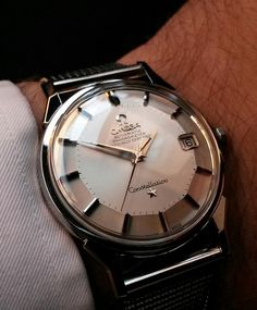 bfa92e03cdf Superb Vintage OMEGA Constellation Piepan Chronometer In Stainless Steel