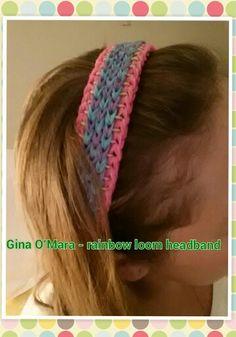 Rainbow loom headband!