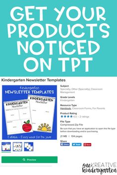 Tips to get your products noticed on tpt too cool for school, classroom management, Education Quotes For Teachers, Quotes For Students, Quotes For Kids, Teacher Resources, Teaching Tools, Teaching Ideas, Kindergarten Newsletter, Classroom Newsletter Template, Education English