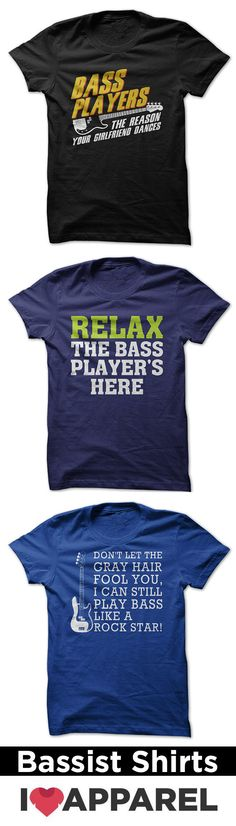 Check out our huge selection of bassist shirts.