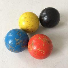 Old wooden balls 10cm diam.