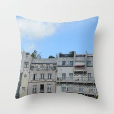 Rooftops & Porches . Paris, France Throw Pillow by emmaleerose - $20.00