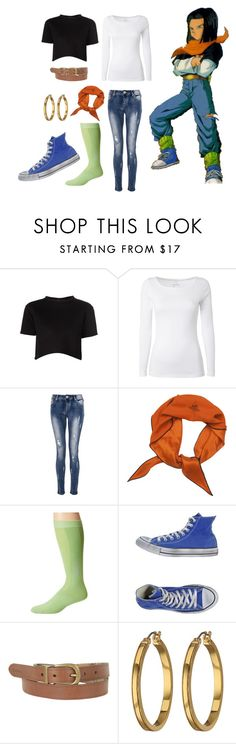 """""""Dragon Ball Z: Android 17 Girly Clothes"""" by lucy-wolf ❤ liked on Polyvore featuring Être Cécile, White Stuff, Quiz, Hermès, CW-X, Converse, Barbour and Lauren Ralph Lauren"""