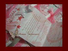 Interior-Invitación XV Años c/estrella, grabado y pedrería