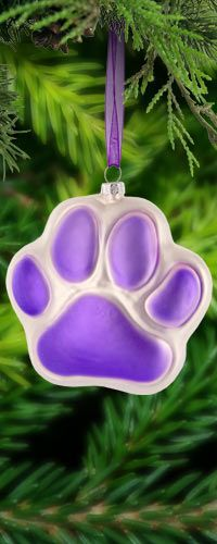 Purple Paw Glass Ornament at The Animal Rescue Site