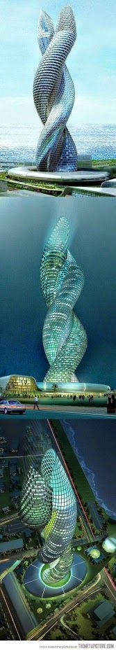 - Kuwait , The Cobra Tower -  Es el diseño arquitectonico mas moderno del momento . . .